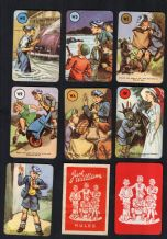 Vintage Collectible Cards game Just William by Pepys, 1952